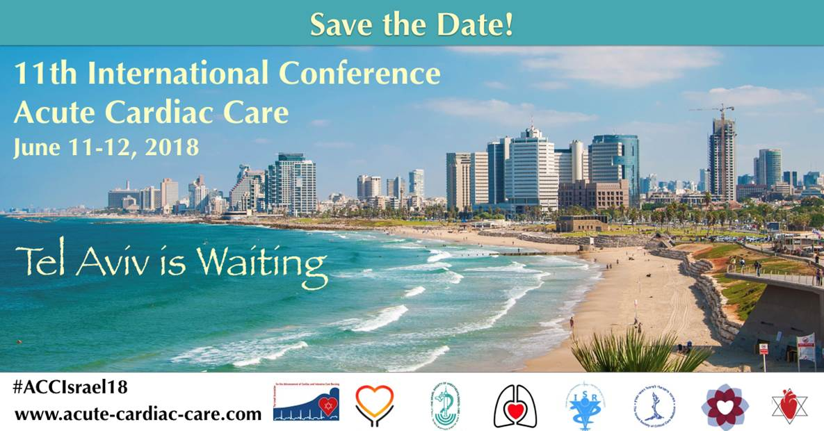 Save the Date! - 11th International Conference on Acute Cardiac Care - 2018